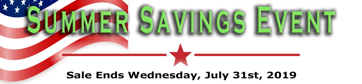 Sale Ends Wednesday, July 31st, 2019