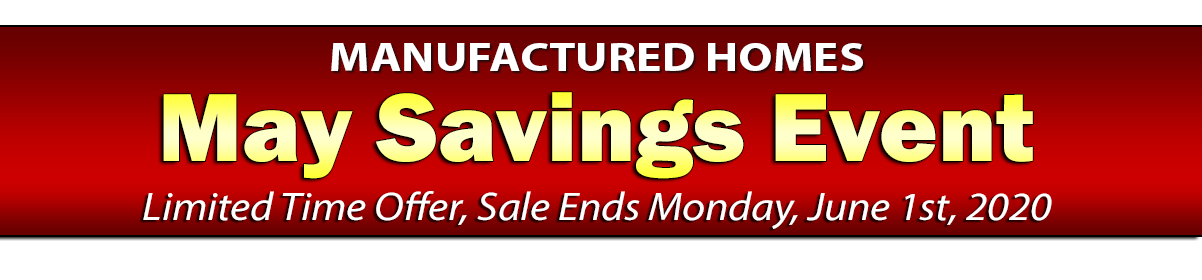 Sale Ends Monday, June 1st, 2020